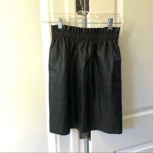 Dex faux leather skirt